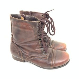 Steve Madden Shoes - Steve Madden Troopa Leather Side Lace Boot 4
